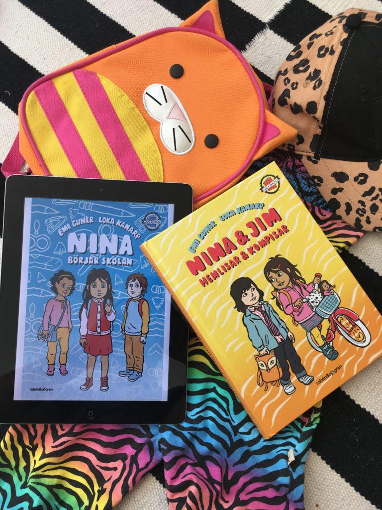 Barnbokstips. Skolstart. Nina börjar skolan av Emi Gunér.
