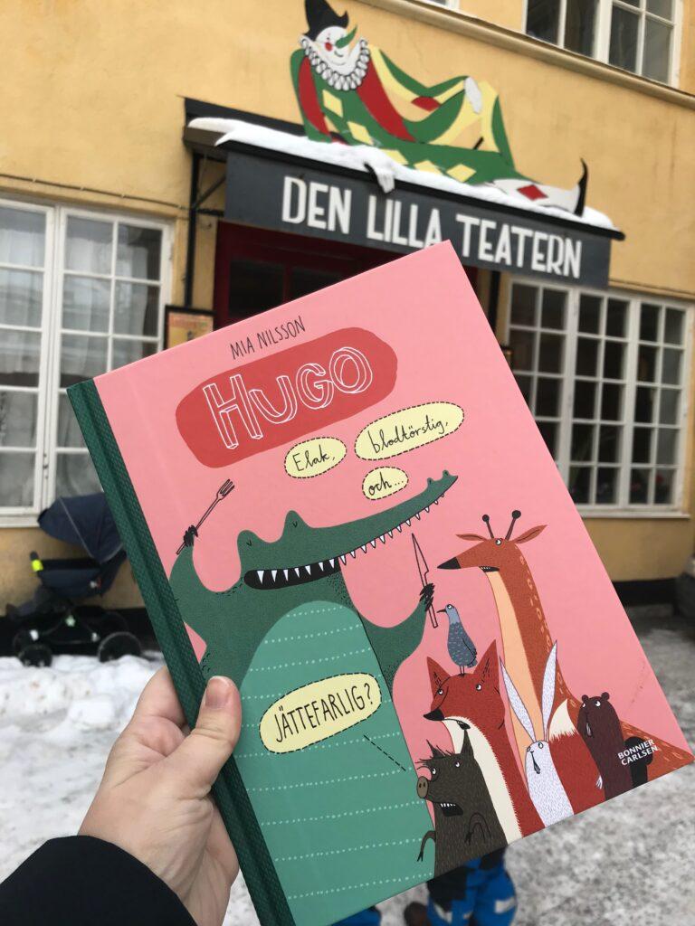 """Barnboktips: Bilderboken """"Hugo -Elak, blodtörstig och... jättefarlig?"""" av Mia Nilsson. Utgiven av Bonnier Carlsen"""