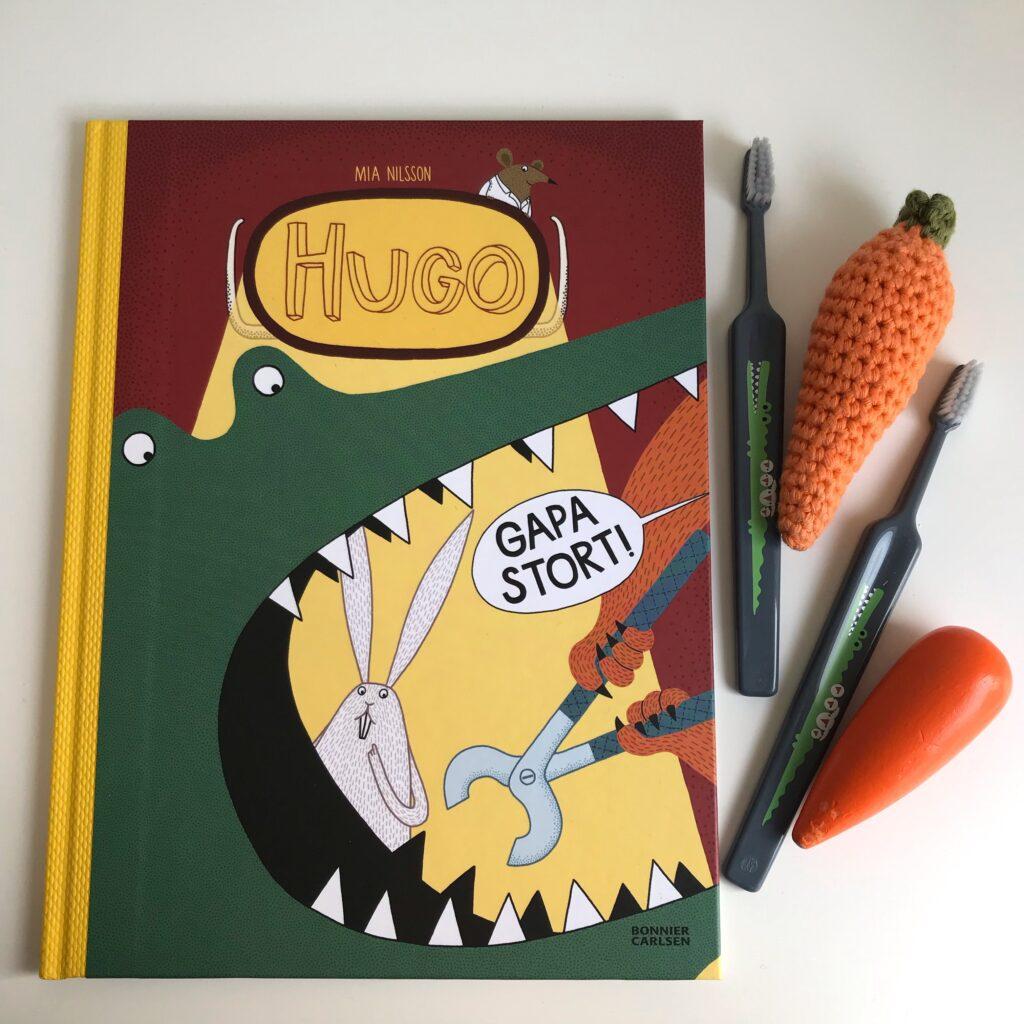 Bilderboken Hugo Gapa stort! av Mia Nilsson. Boktips, barnbok.