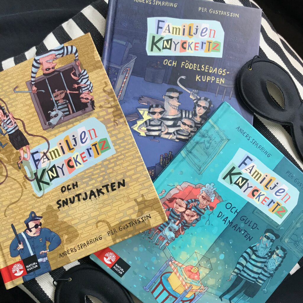 Boktips för barn. Familjen Knyckertz, illustrerade kapitelböcker fyllda med humor!