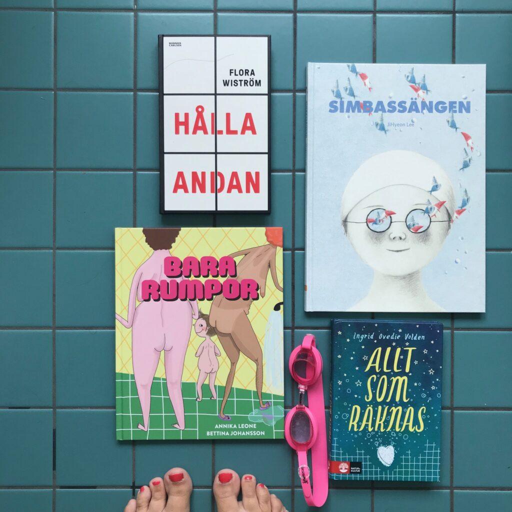 Boktips från badhuset. Bilderböcker. Silent books. Bara rumpor. Ungdomsbok. Barnens boktips