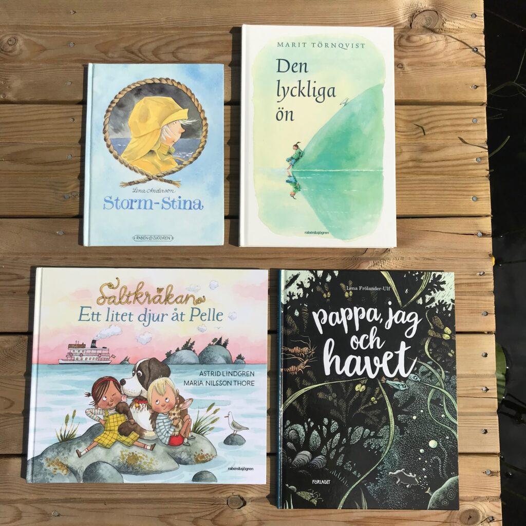 Barnböcker om havet och skärgården. Boktips för barn. Bilderböcker. Barnens boktips.