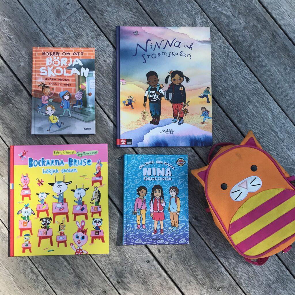Böcker om skolstart. Boktips inför skolstarten. Barnens boktips.