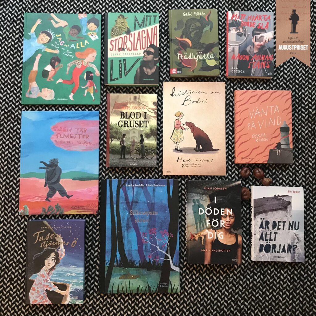 Boktips. Augustnomineringar. Barn- och ungdomsböcker. Barnens boktips.