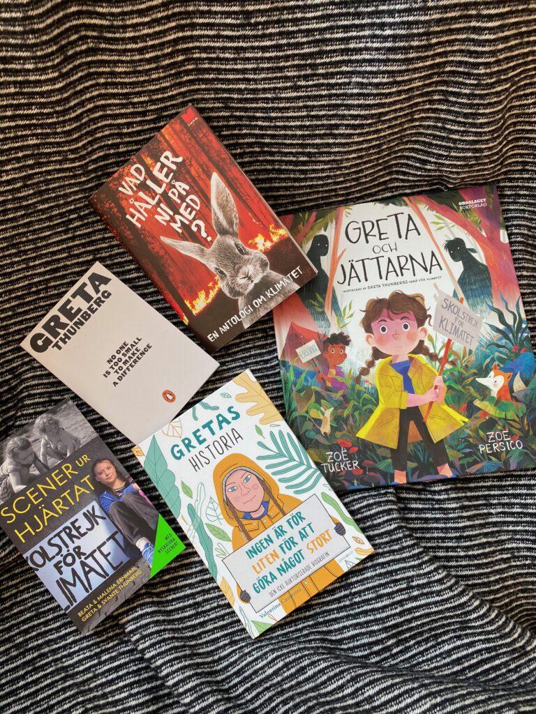 Boktips för barn om Greta Thunberg och klimatkrisen.