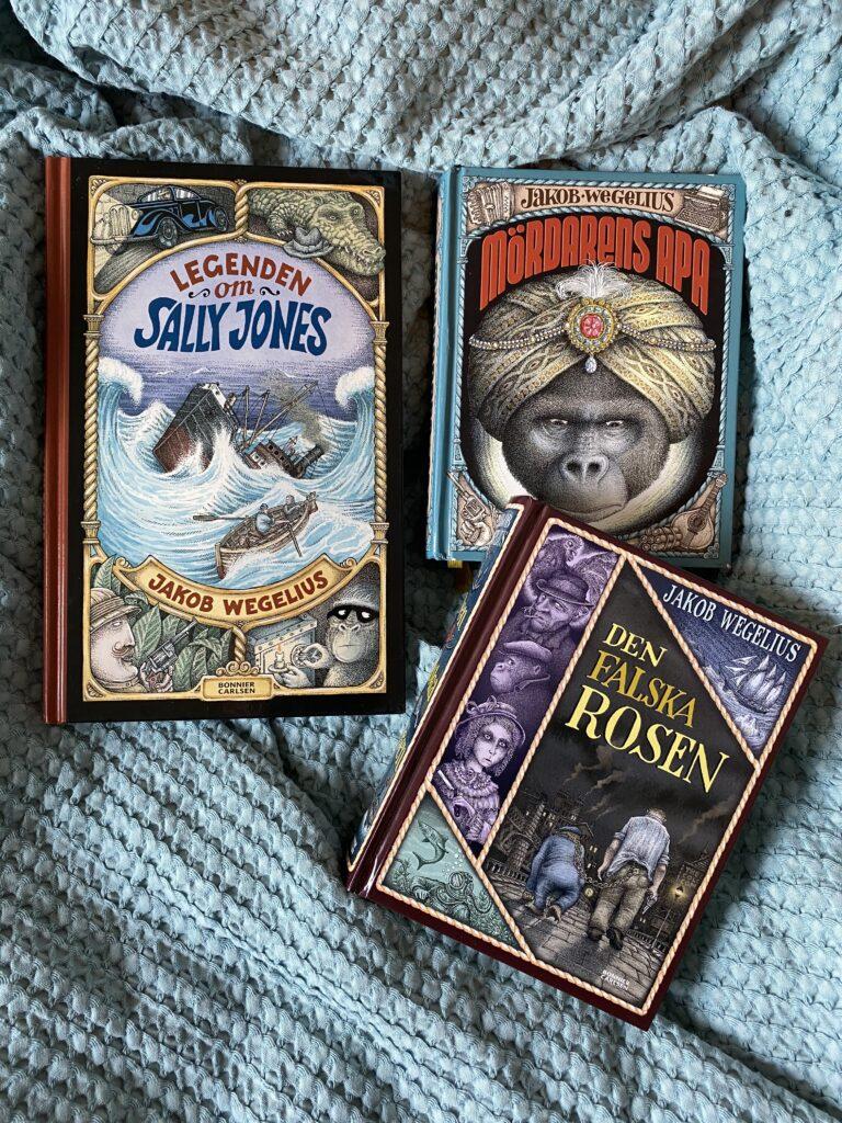 Boktips: Legenden om Sally Jones, Mördarens apa och Den falska rosen. Högläsningsäventyr i världsklass!